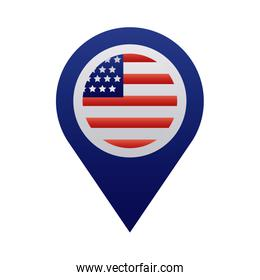 pin location with usa flag degraded style