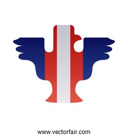 eagle silhouette with usa flag degraded style