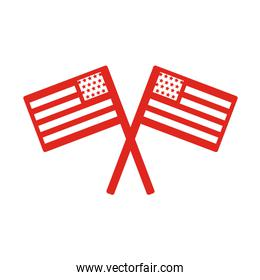usa flags line style icon