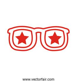 sunglasses with stars line style