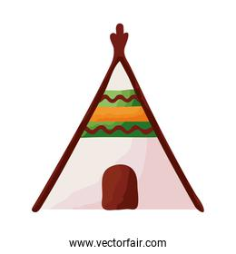 indian tent canadian flat style icon