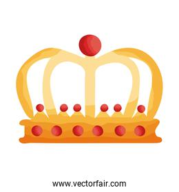 queen crown flat style icon