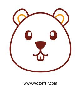cute beaver line style icon