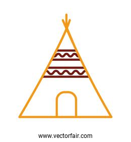 indian tent canadian line style icon