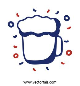 beer drink line style icon