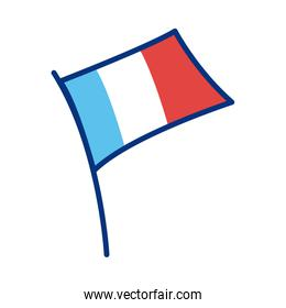france flag line style icon