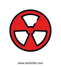 nuclear symbol icon, line and fill style