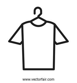 hanger with tshirt icon, line style