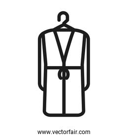 coat in clothes hanger, line style