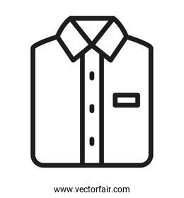 male shirt icon, line style