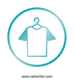 hanger with tshirt icon, gradient style