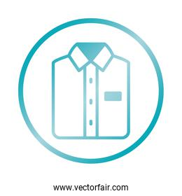 male shirt icon, gradient style