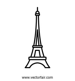 bastille day concept, eiffel tower icon, line style
