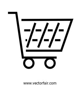 shopping cart icon, line style