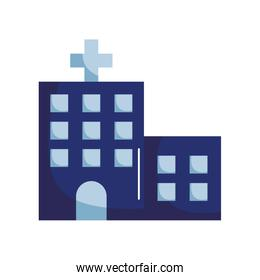 Hospital building flat style icon vector design