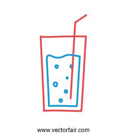 Glass drink line and fill style icon vector design vector design