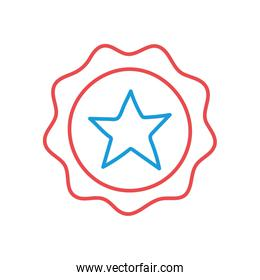 Seal stamp with star line and fill style iconvector design