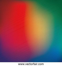Vibrant colored and blurred background vector design