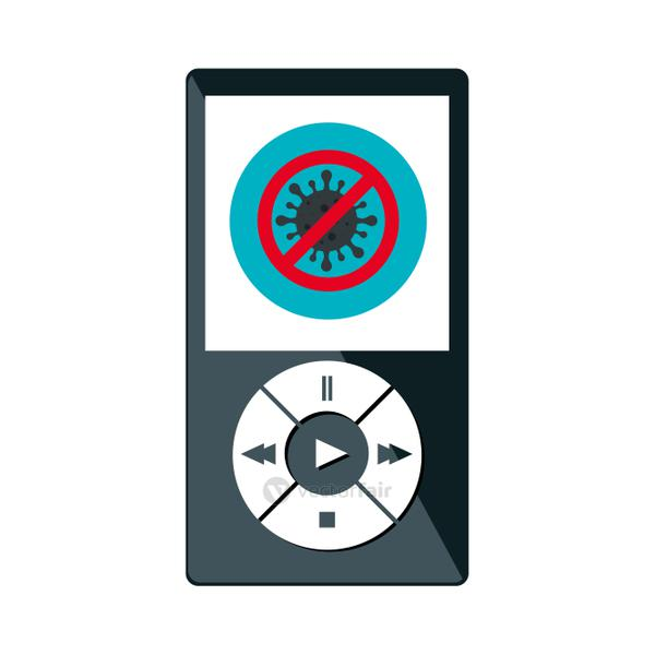 campaign of stop covid 19 in music player