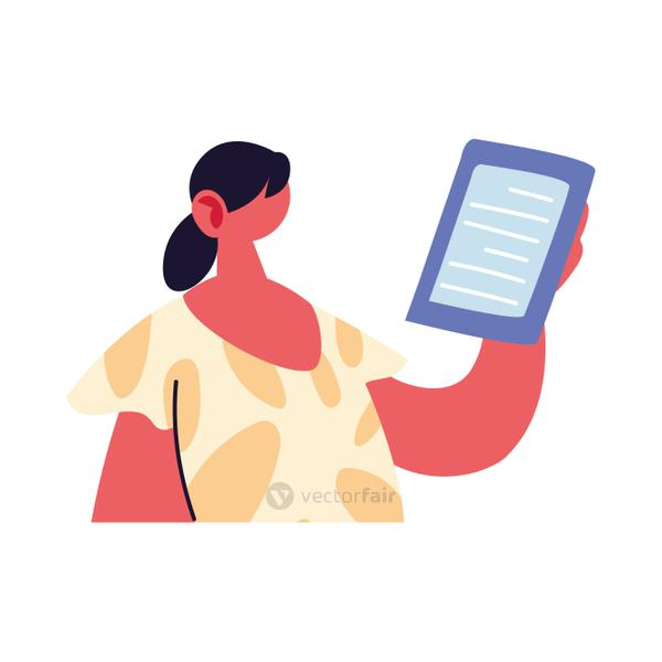 professional woman working online at home
