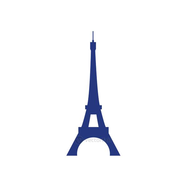Happy bastille day concept, eiffel tower icon, flat style