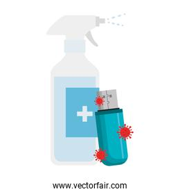 prevention spray bottle covid 19 with usb device
