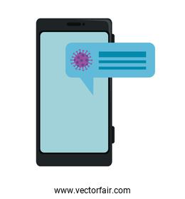 searching covid 19 online in smartphone