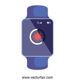 smartwatch searching covid 19 information online
