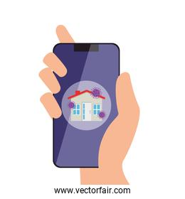smartphone with stay at home app