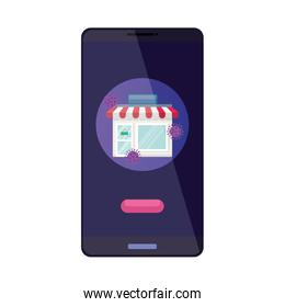 smartphone with app store for covid 19