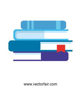 stack of textbooks isolated icon