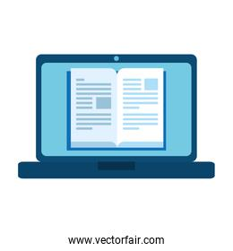 laptop for education online isolated icon