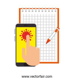 smartphone for education online for particle covid 19