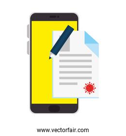 smartphone for education online isolated icon