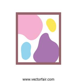picture frame decoration paint stains isolated icon design