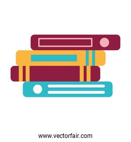 school stack of books isolated icon design