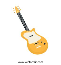 electric guitar musical instrument strings isolated icon design