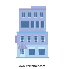 building store facade residential and commercial isolated icon design