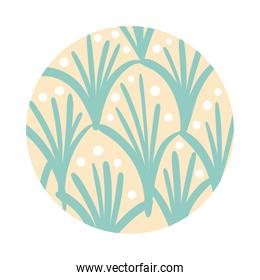 branch and leafs organic pattern block style