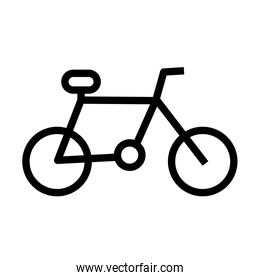 bicycle sport flat style icon