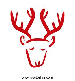 reindeer animal hand draw style icon