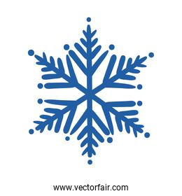 snowflake ice hand draw style icon