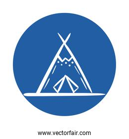 indian tent canadian block style icon