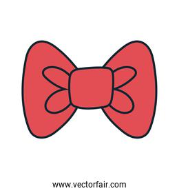 bowtie accessory elegant line and fill style
