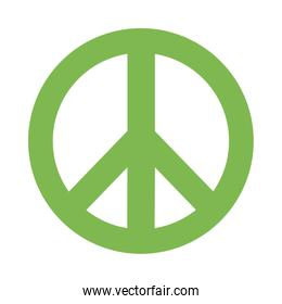 peace and love green symbol flat style icon vector design