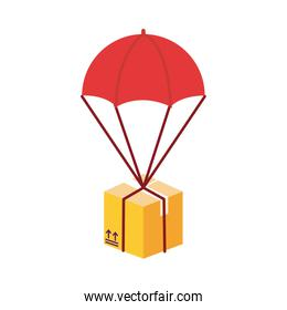 box in parachute delivery service detailed style