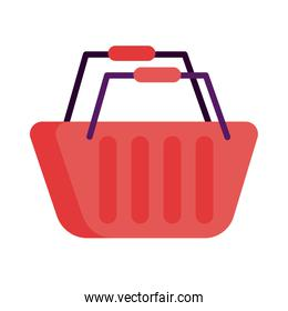 shopping basket market detailed style