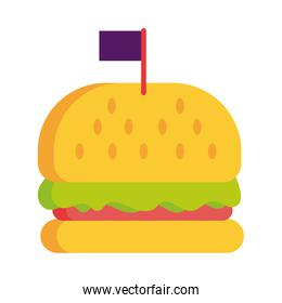 delicious burger fast food detailed style icon