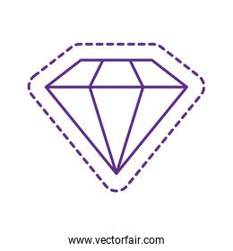 Cute diamond patch line style icon vector design