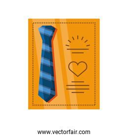 fathers day card template with tie